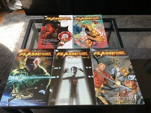 New-Unread-Dc-Comics-The-World-Of-Flashpoint-Collection-Tpb-Graphic-Novel-Set