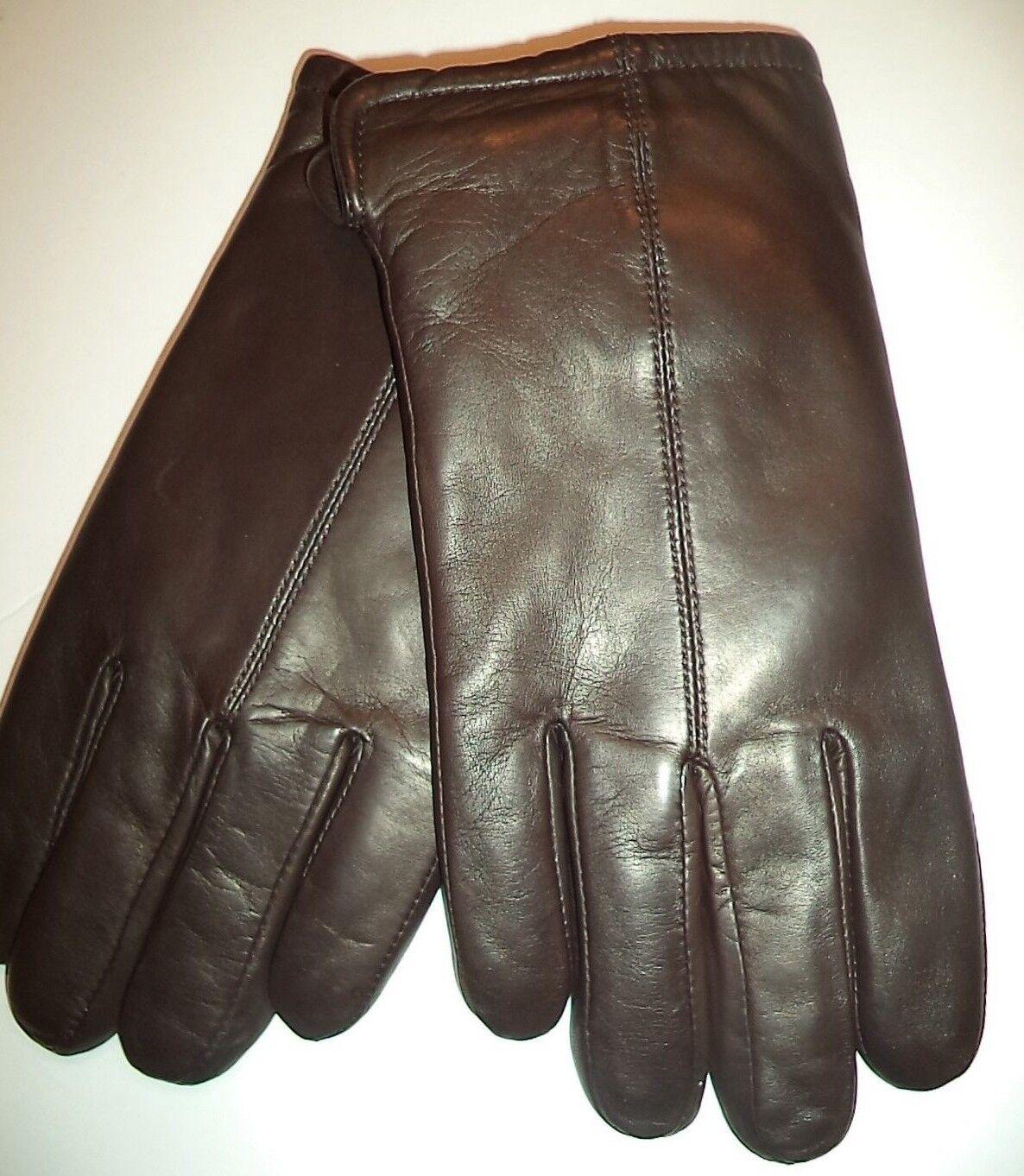 Grandoe Mens Leather Gloves,Brown, XL*
