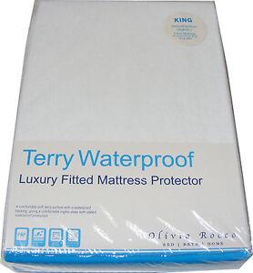 Imperméable Terry Serviette Matelas Protection Drap Housse Lit Bébé Toutes Tailles
