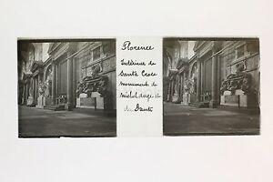 Florence Firenze Italia Italia Targa per lente Stereo positivo ca 1905