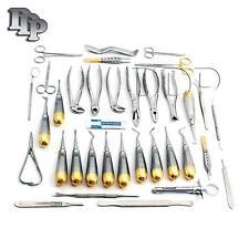 German 74 Pc Oral Dental Surgery Extracting Elevators Forceps Instrument Kit Set