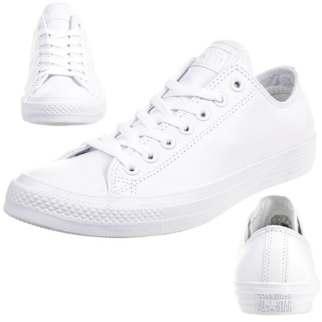 Converse C Taylor all Star Ox Chuck Trainers Leather Mono White 136823C