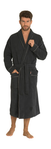 Men Long Cotton Dressing Gown With Long Sleeves Classic//274
