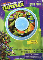 Teenage Mutant Ninja Turtles Kids 20 Swim Ring Tube Pool Float Tmnt 3+