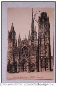 Tarjeta-postal-antigua-La-Catedral-de-POSTAL-ROUEN-Conjunto