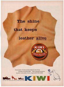 1953 ORIGINAL VINTAGE KIWI BOOT POLISH MAGAZINE AD