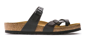 220d137a2e04 Image is loading Birkenstock-Mayari-Birkibuc-Regular-Fit-Womens-Sandal-Black