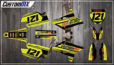 Yamaha YZ125 YZ250 UFO Restyled YZF250 YZF450 Fluoro/Fluorescent Graphics Kit