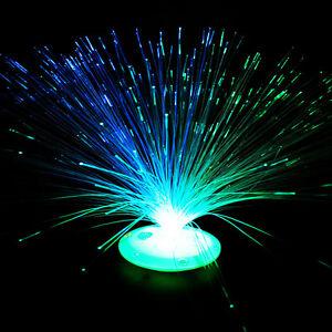 Das Bild Wird Geladen Farbwechsel Beleuchtung Glasfaser LED Lampe  Fiberglas Licht Leuchte