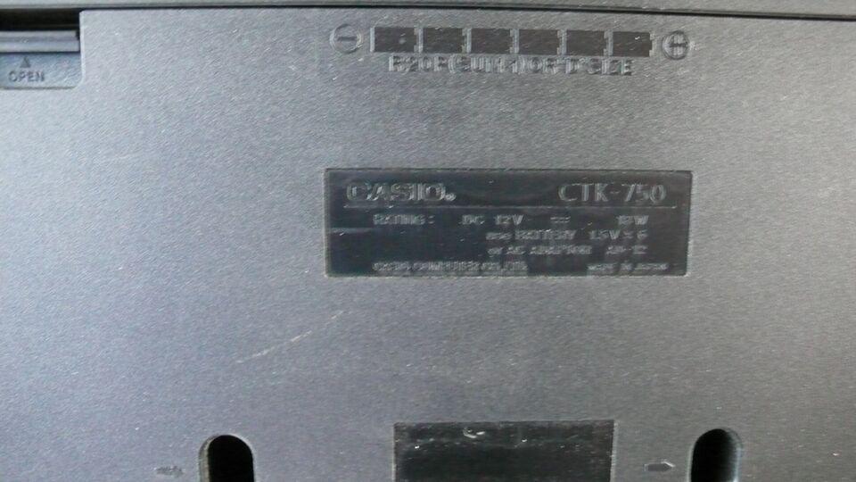 Keyboard, Casio CTK-750