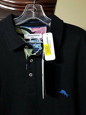 Tommy Bahama Men's SZ XL-Tall 5 O'Clock Floral Polo Shirt Black   eBay