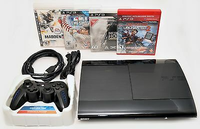 Sony Playstation 3 Super Slim 500GB Game Console System Bundle PS3 Madden MLB 11