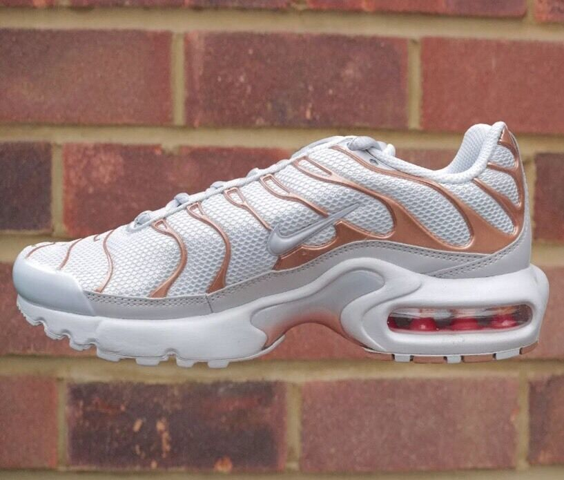 Juniors Damenschuhe Boys Girls Nike Air Max Plus GS Tn 5.5 Weiß Metallic Bronze UK 5.5 Tn f9bf22
