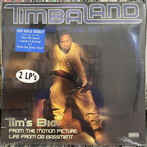 TIMBALAND-TIM-039-S-BIO-LIFE-FROM-DA-BASSMENT-2LP-1998-RARE-NAS-JAY-Z