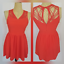 Altar-039-d-State-Women-039-s-Sleeveless-Dress-Size-Small-Orange-Cut-Out-Back thumbnail 1