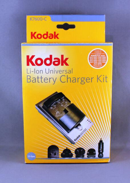 KODAK K7600-C Li-Ion UNIVERSAL BATTERY CHARGER KIT - BRAND NEW