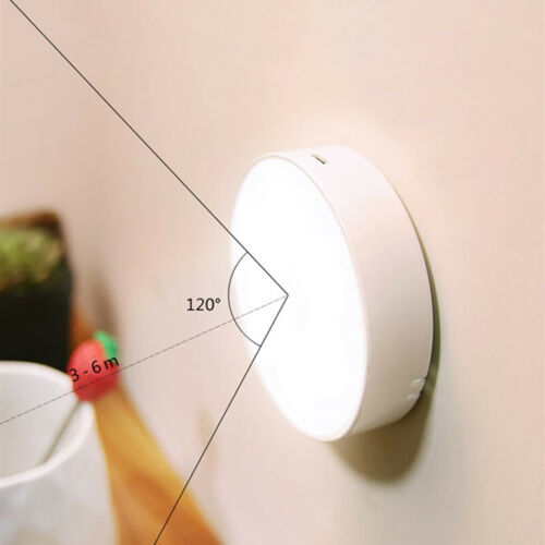 Lampada LED 6W ricaricabile USB sensore movimento crepuscolare armadio mobili