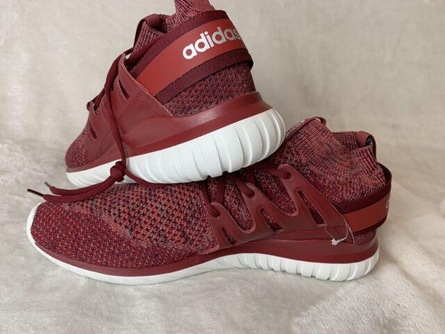 Adidas BB8406 Tubular Nova Primeknit Sneakers Size 13 NEW Mystery RedBurgundy