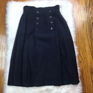 1a2ef16c92a73b Image is loading Escada-VINTAGE-by-Margaret-Ley-Navy-Wool-Pleated-