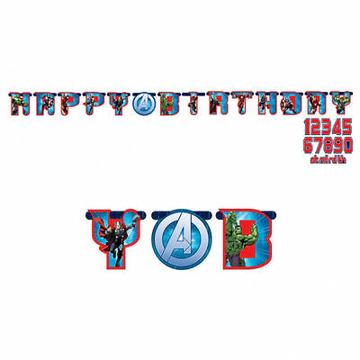 Avengers Happy Birthday add AGE Banner Party Decoration Super Heros Bunting