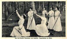 Donna di Berlino turn-e fechtklub arco sparare nel bosco immagine documento del 1909
