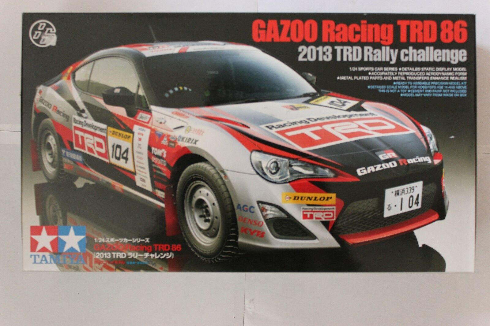 TAMIYA 24337 Gazoo Racing Toyota TRD 86 1 24 Car Model Kit