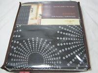 Estex Sunburst Fabric Jacquard Shower Curtain 70x70 Black And Grey Nip