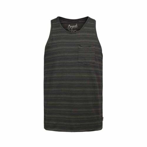 Jack /& Jones Mens New Designer Branded Pasadena Striped Tank Vests BNWT