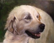 COMMISSION PET  and HUMANS  PORTRAIT.CASTOM  OIL on CANVAS PAINTING FROM PHOTO