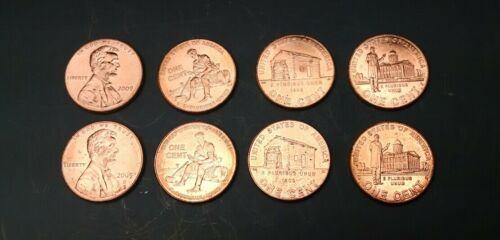 Lincoln Bicentennial 2009 Cent Pennies  P /& D Mint coins 8 total