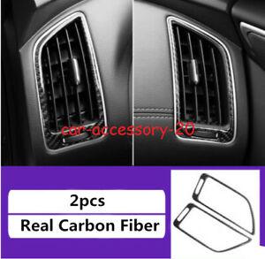 Carbon Fiber Interior Console Air Vent Outlet Cover For Infiniti Q50 Q60 2014-19