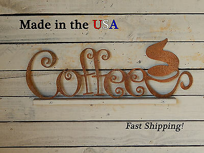 Coffee Sign with Cup, Coffee, Business, Shop Decor, Kitchen, Cafe Decor, S1196