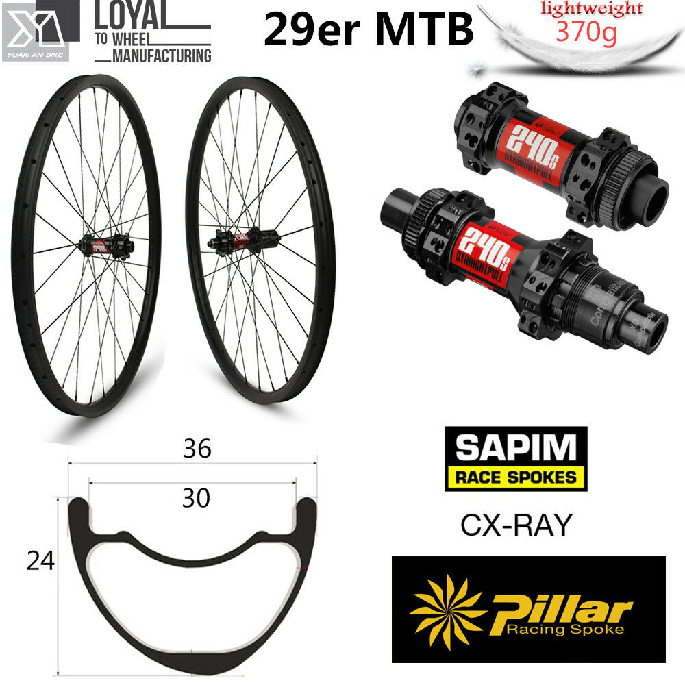 36mm width 29er carbon mtb wheels mountain bike  wheels XC with dt 240 hub  clearance