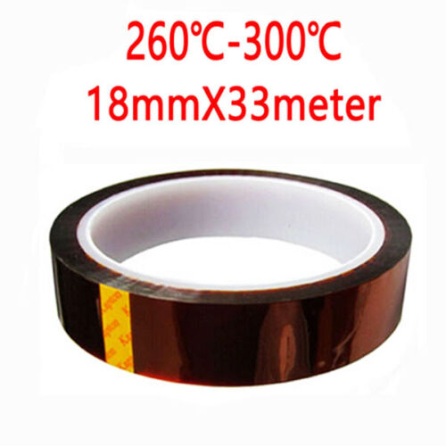 Kapton tape 5 8 10 12 15 18mm x 33M High temperature heat resistant polyimide