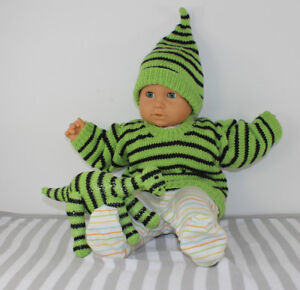 KNITTING-INSTRUCTIONS-BABY-STRIPE-SWEATER-PIXIE-HAT-amp-DINOSAUR-KNITTING-PATTERN