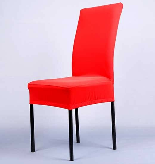 1XSpandex Dining Room Wedding Banquet Chair Cover Decor Washable Slipcover Z0HWC