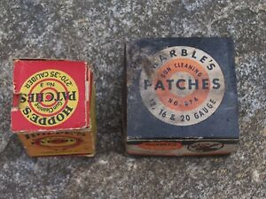 Vintage-Hoppes-amp-Marble-039-s-Gun-Cleaning-Patches-270-35-cal-Shotgun-Boxes