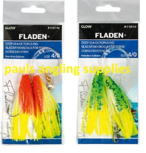 Fladen Deep Sea Boat Fishing Glowing  Squid Rig Size 4//0  8//0  17-1511