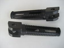 Paar ALUMINIUM FUSSRASTEN RASTEN schwarz vorn Honda CB CBR VFR VTR HORNET XX NEU