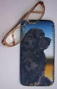 NEWFOUNDLAND-DOG-NEOPRENE-GLASSES-CASE-POUCH-DESIGN-SANDRA-COEN-ARTIST-PRINT