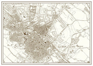 Luton Bedfordshire as it was in 1938 a new old map eBay