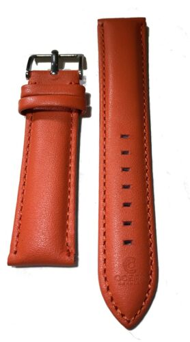 Ocean Crawler Leather Band Strap Orange ... Padded and Hand Stitched Strap