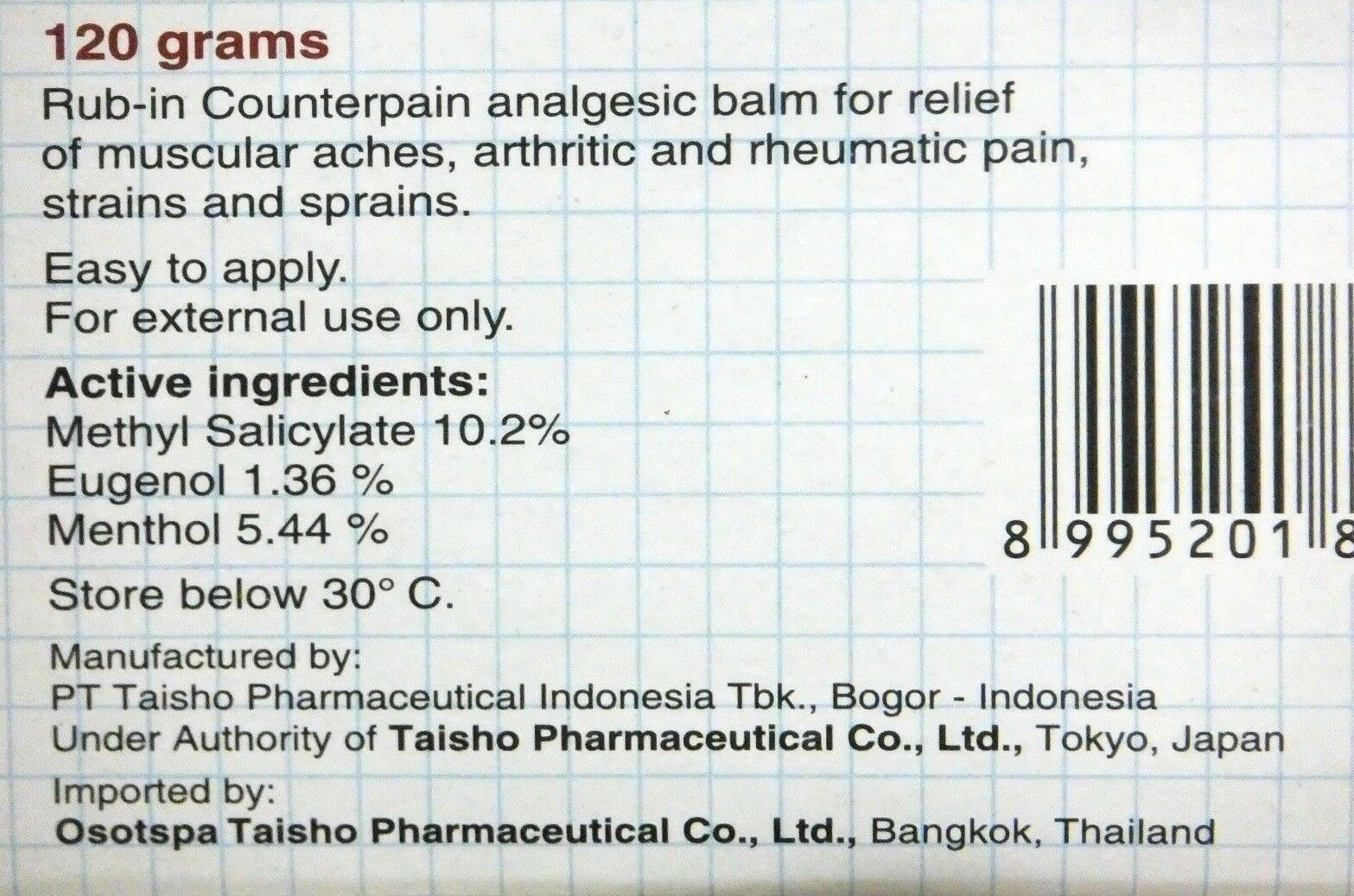 6x Counterpain 120g Analgesic Balm Massage Relieves Muscular Ache Pain Ebay