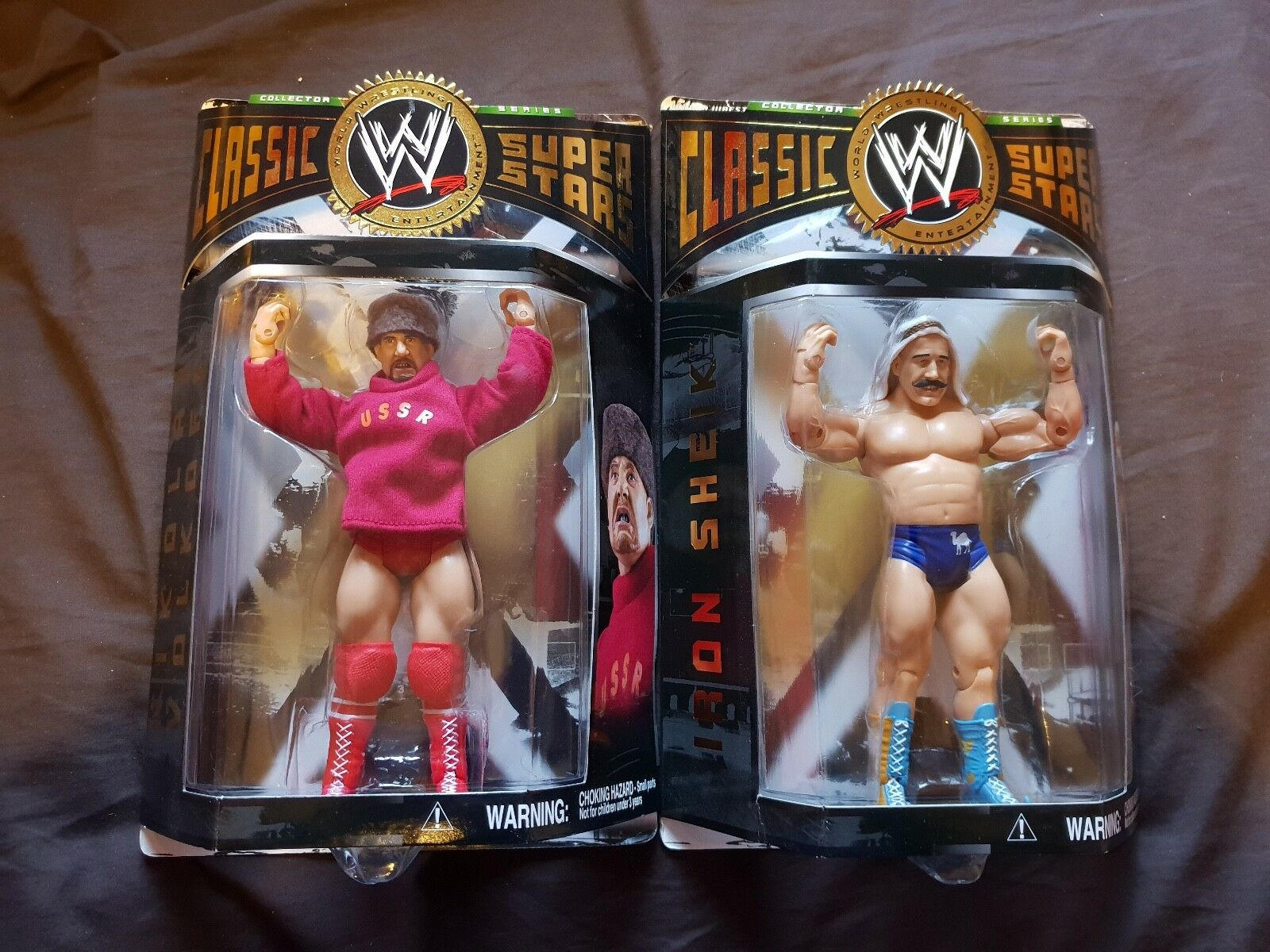 IRON SHEIK & NIKOLAI VOLKOFF WWE Classic Super Stars Figures Jakks WWF NEW MOC