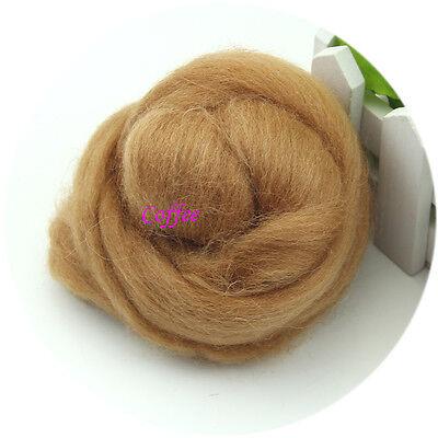 Needlefelting Wool Corriedale Top Roving Dyed Spinning Wet Felting Fiber New