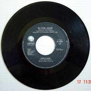 ONE-1985-039-S-45-R-P-M-RECORD-ELTON-JOHN-RESTLESS-NIKITA