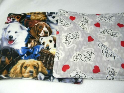 Hot Pad// Pot Holder With Pets Ladybugs and More Designs Set of 2 Farm Sharks
