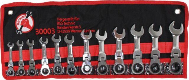 BGS Ratschenringschlüssel Satz extra kurz 8-19mm Knarren Ratschen Schlüssel