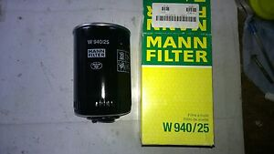MANN-HUMMEL-OIL-FILTER-W940-25-FOR-SUPACAT-VOLKSWAGEN-EX-ARMY-RESERVE
