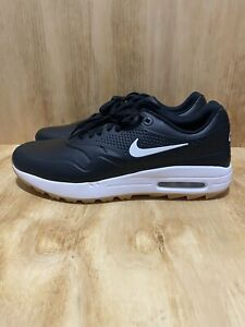 Nike Air Max 1 G Spikeless Golf Shoes Black Gum Aq0863 001 Men S Size 9 Ebay